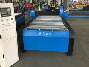 चीन Huayuan 100A प्लाज्मा काटने CNC मेशीन 10mm प्लेट धातु