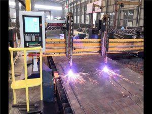 डबल ड्राइभ गैन्ट्री सीएनसी प्लाज्मा काटने मेशीन एच बीम उत्पादन लाइन हाइपरथर्म सीएनसी प्रणाली