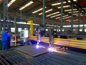 गैन्ट्री सीएनसी प्लाज्मा कटिंग मशीन र स्टील प्लेटको लागि ज्वाला काट्ने मेशिन